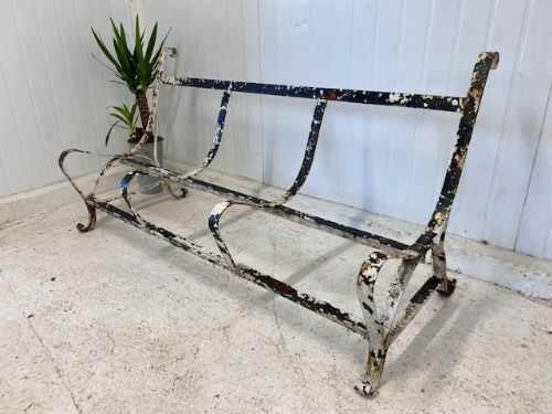 Antique Parisian French Garden Bench Frame - jh76
